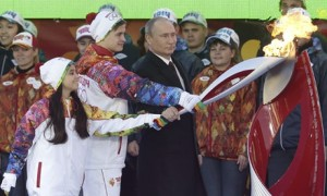 Putin at Olympic flame ceremony