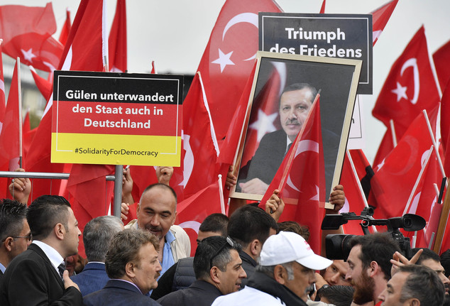 anti-Gulen rally in Cologne